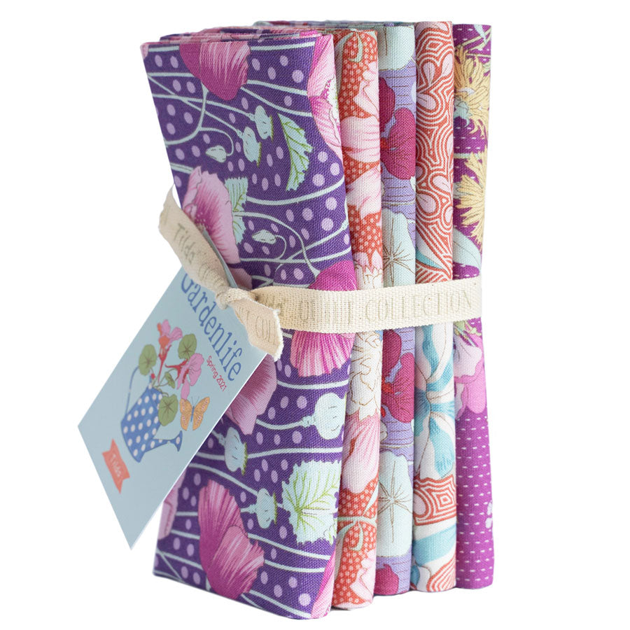 *PRE-ORDER* TILDA GARDENLIFE FQ BUNDLE LILAC/CORAL - ARRIVING APRIL
