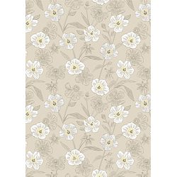 REDUCED - Rambling Floral On Dark Cream