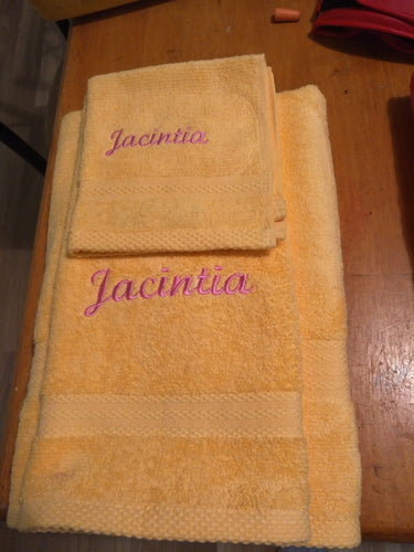 Embroidered Towel Set - Name only