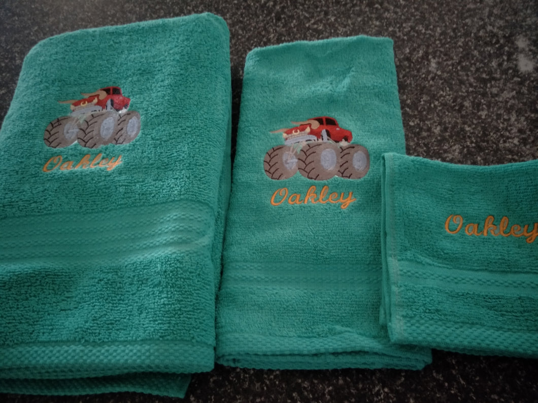 Embroidered Towel Set - Name and design