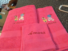 Load image into Gallery viewer, Embroidered Towel Set - Name and design