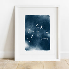 Load image into Gallery viewer, Aquarius Star Map- Instant Download Wall Art Print