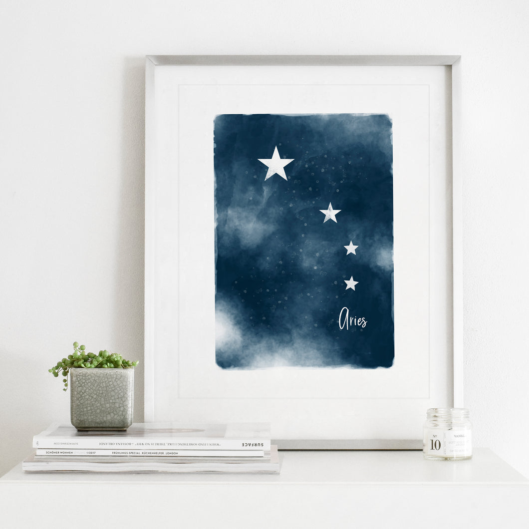 Aries Star Map- Instant Download Wall Art Print