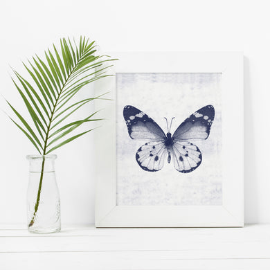 Blue Butterfly 1- Instant download wall art print