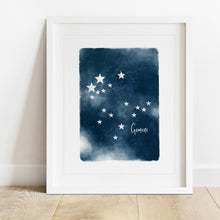 Load image into Gallery viewer, Gemini Star Map- Instant Download Wall Art Print