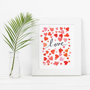 Love In Hearts- Instant Download Wall Art Print