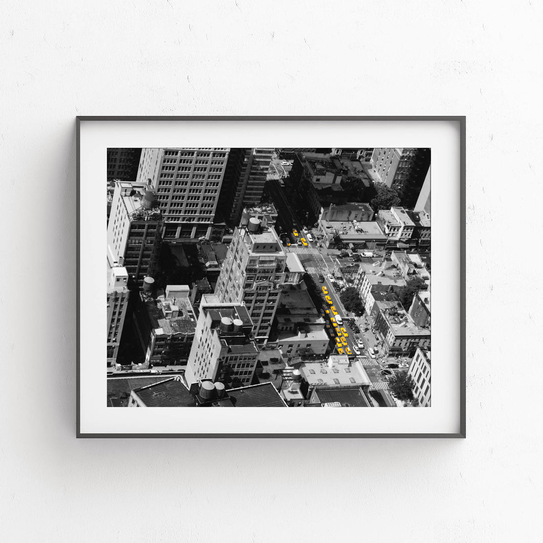 Yellow Taxis In New York- Digital Printable Wall Art