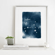 Load image into Gallery viewer, Sagittarius Star Map- Instant Download Wall Art Print