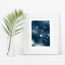 Load image into Gallery viewer, Taurus Star Map- Instant Download Wall Art Print