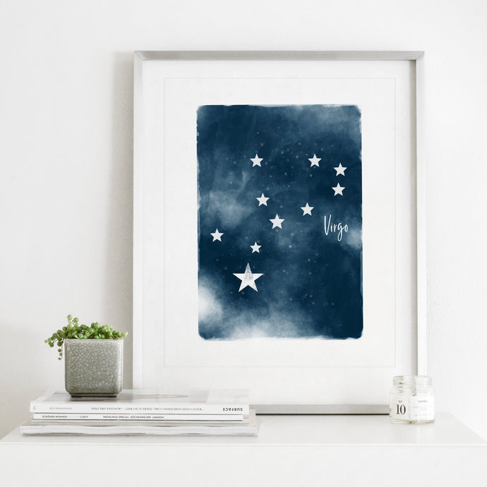 Virgo Star Map- Instant Download Wall Art print