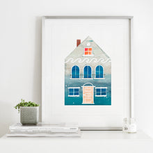 Load image into Gallery viewer, Summer Beach House- Instant Download Wall Art Print