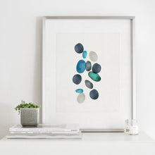 Load image into Gallery viewer, Beach Stones 2- Digital Download Watercolor Wall Art