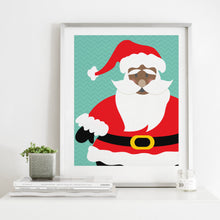 Load image into Gallery viewer, Black Santa Claus- Instant Download Christmas Wall Art Print