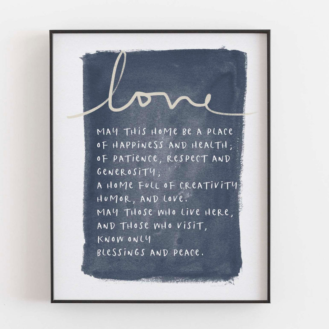 Jewish Home Blessing- Printable Art