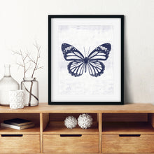Load image into Gallery viewer, Blue Butterfly 1- Instant download wall art print