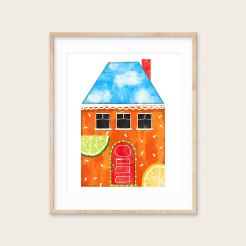 Fresh Citrus Spirit House- Instant Download Wall Art Print