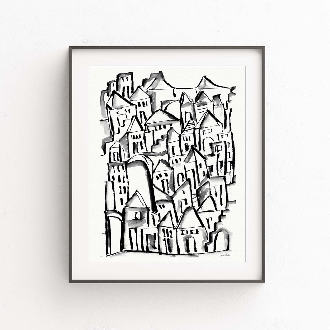 Inky City Sketch- Printable Art