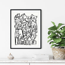 Load image into Gallery viewer, Inky City Sketch- Printable Art