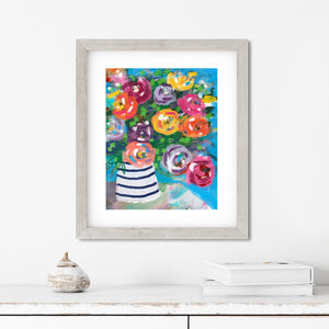 Colorful Flowers- Digital Printable Wall Art
