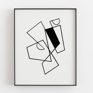 Connecting Lines 1- Printable Minimal Art