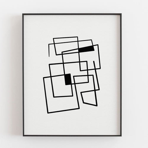 Connecting Lines 2- Printable Minimal Art