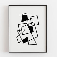 Load image into Gallery viewer, Connecting Lines 3- Printable Minimal Art