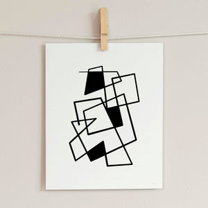 Connecting Lines 3- Printable Minimal Art