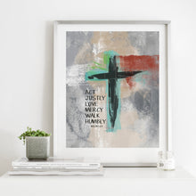 Load image into Gallery viewer, Micah 6:8- Instant Download Inspirational Wall Art