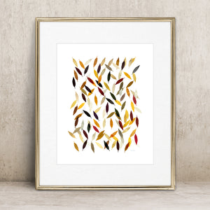 Falling Leaves- Instant Download Wall Art Print