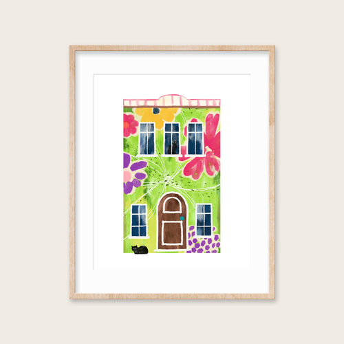 Garden House- Instant Download Wall Art