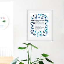 Load image into Gallery viewer, Hanukkah Home Blessing- Instant Download Hanukkah Wall Art Print