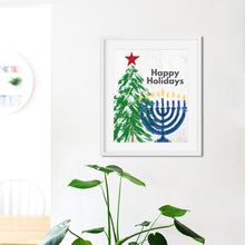 Load image into Gallery viewer, Happy Holidays Christmas and Hanukkah- Instant Download Holiday Wall Art