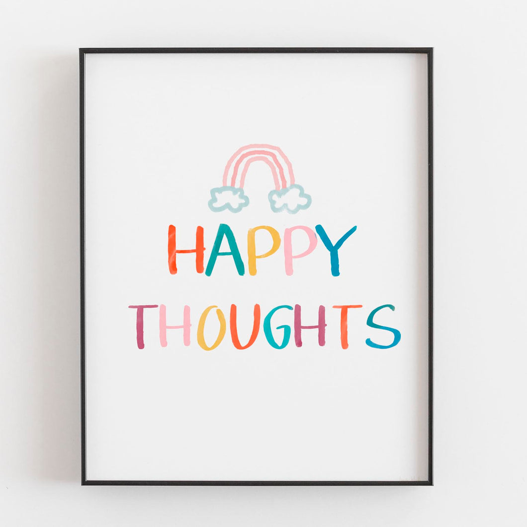 Happy Thoughts- Printable Art