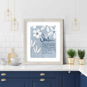 Floral Jewish Home Blessing- Digital Printable Wall Art