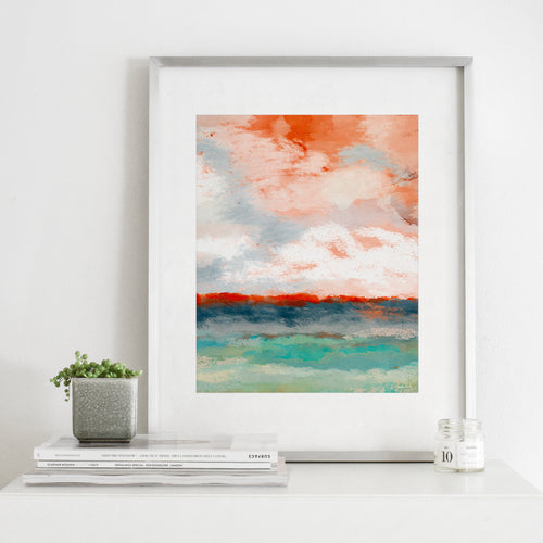 On The Horizon- Digital Download Abstract Landscape Art