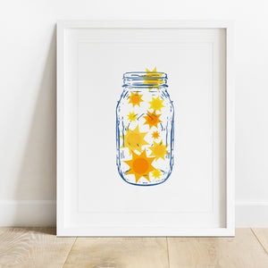 Jar Of Sunshine- Instant Download Wall Art Print