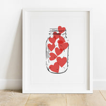 Load image into Gallery viewer, Jar Of Hearts- Instant Download Wall Art Print