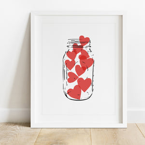 Jar Of Hearts- Instant Download Wall Art Print