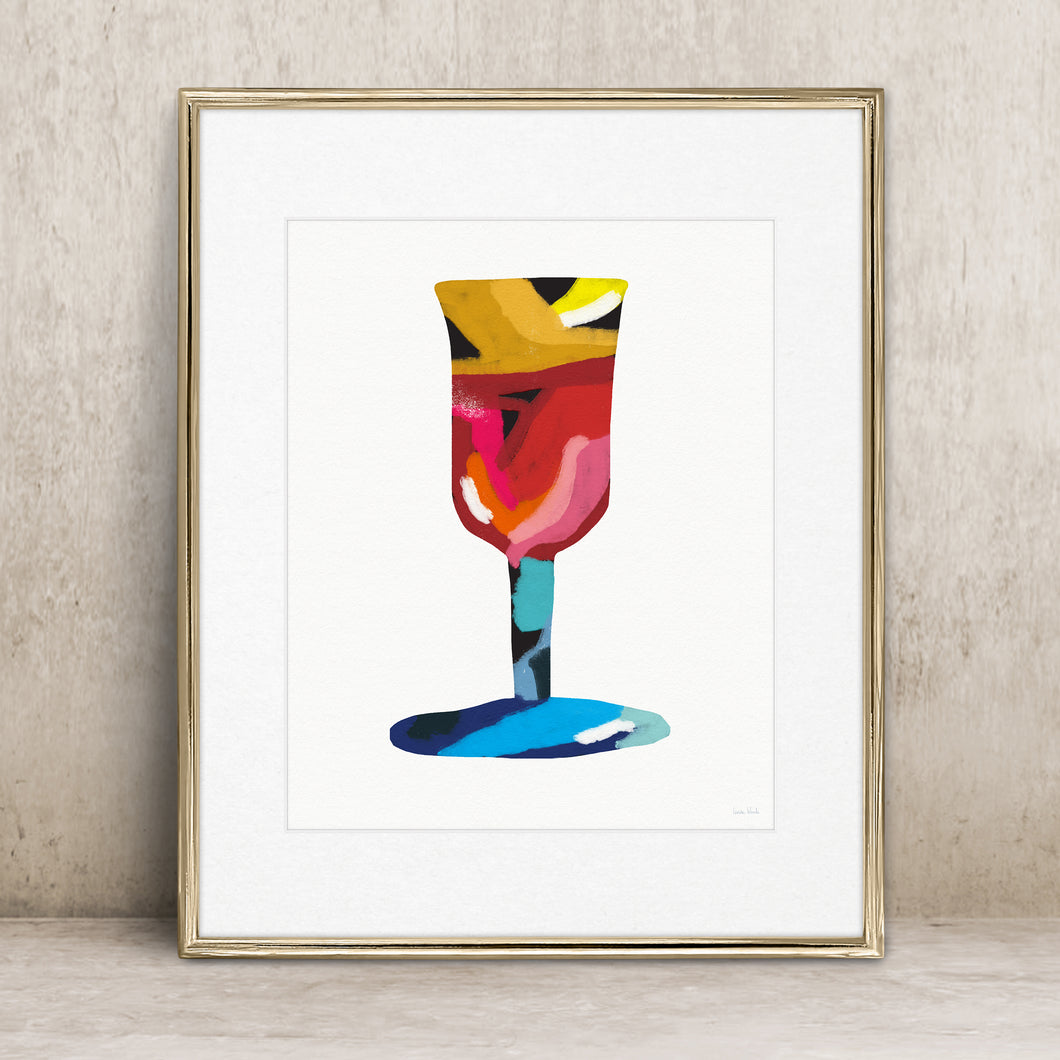 Colorful Kiddush Cup- Judaic Instant Download Wall Art