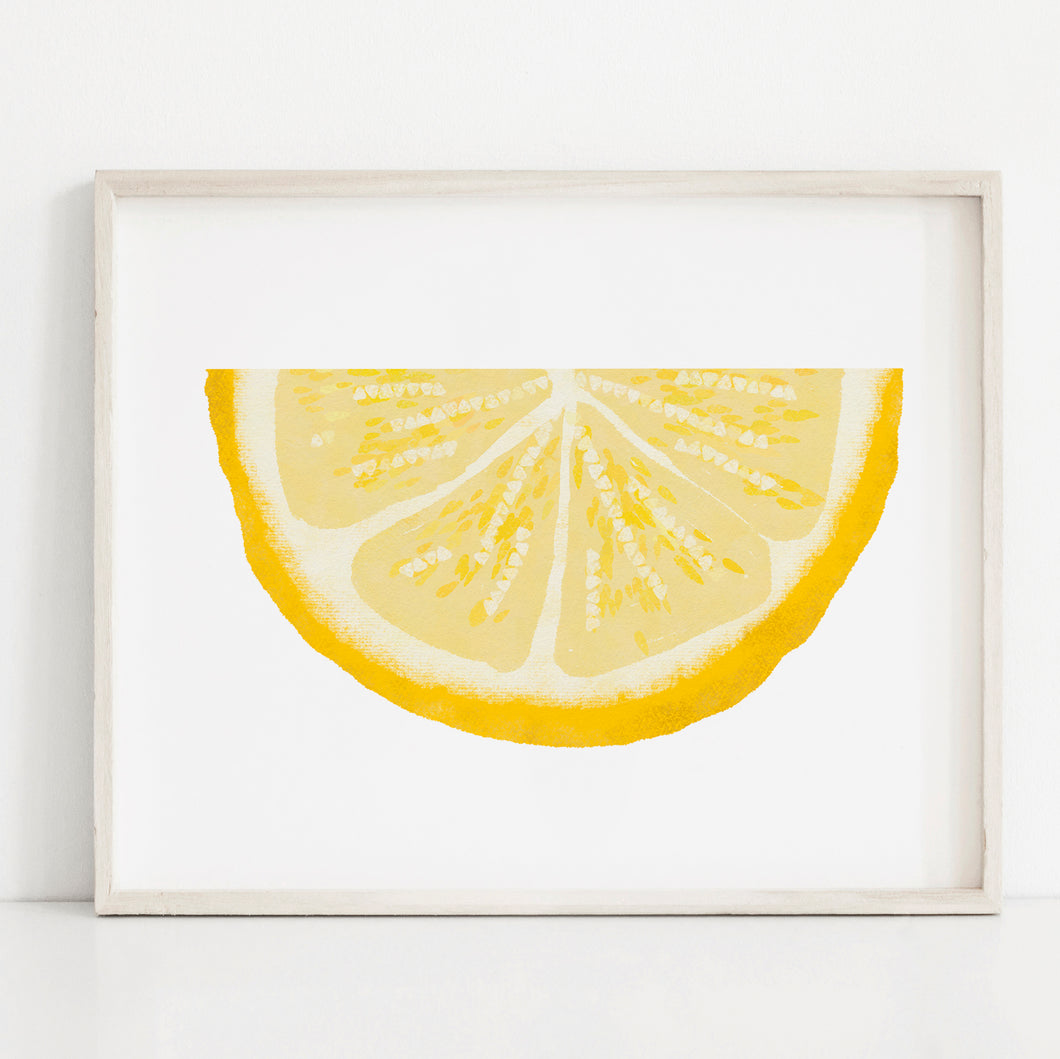 Lemon Wedge- Instant Download Wall Art Print