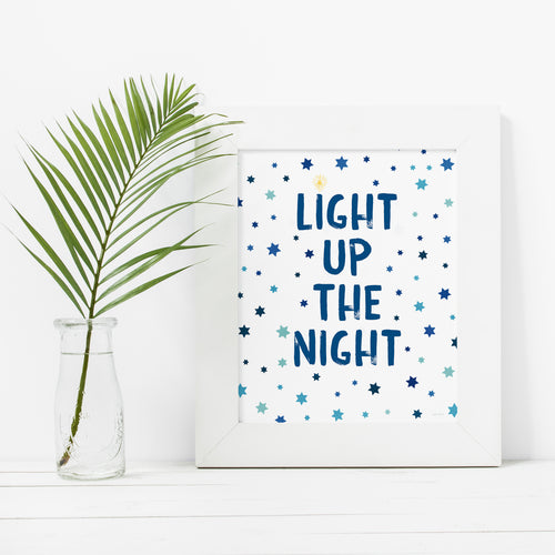 Light Up The Night-Instant Download Hanukkah Wall Art Print