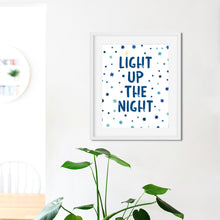 Load image into Gallery viewer, Light Up The Night-Instant Download Hanukkah Wall Art Print