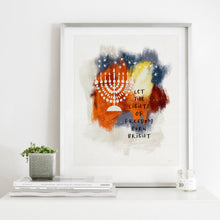 Load image into Gallery viewer, Lights Of Freedom- Instant Download Hanukkah Wall Art