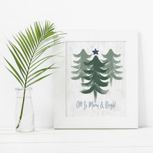 Load image into Gallery viewer, Merry and Bright Sage- Instant Download Christmas Wall Art
