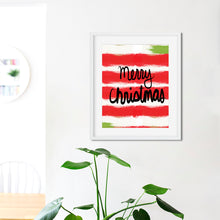 Load image into Gallery viewer, Merry Christmas Stripes- Instant Download Christmas Wall Art
