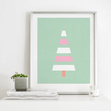 Load image into Gallery viewer, Modern Scandinavian Style Pastel Christmas Tree- Instant Download Wall Art