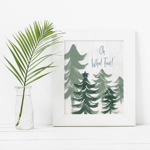 Oh What Fun Sage- Instant Download Christmas Wall Art