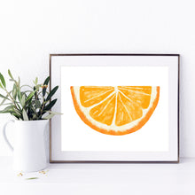 Load image into Gallery viewer, Orange Wedge- Instant Download Wall Art Print