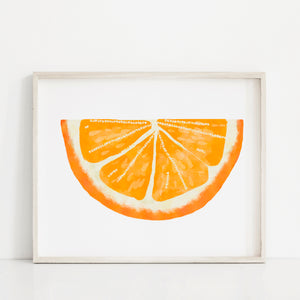 Orange Wedge- Instant Download Wall Art Print
