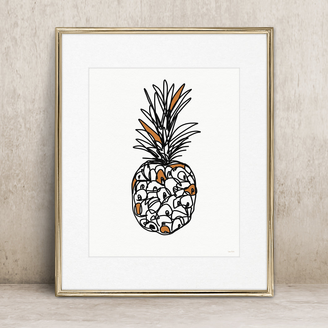 Autumn Pineapple- Instant Download Wall Art